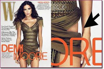 Demi Moore Photoshop Controversy