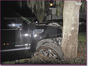 Tiger Woods Accident, courtesy of TMZ